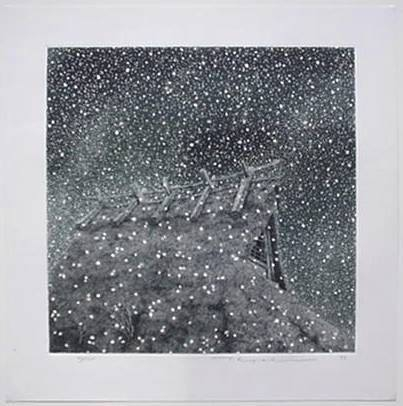 Tanaka Ryohei Thatched Roof in the Snow 1993.jpg