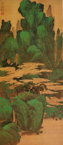 Tani Bunchô A blue-green landscape    1807.jpg