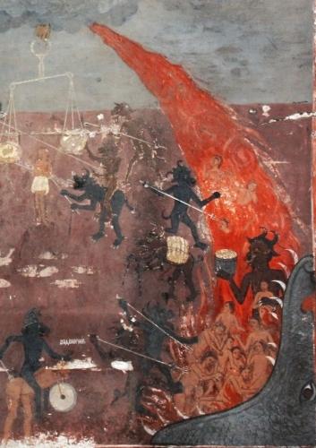 ′ Enfer ′′église médiavale de Raduil Bulgarie détail fresque_o.jpg