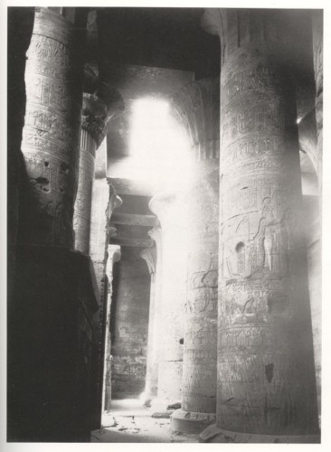 Antonio Beato Interior of Temple of Horus, Edfu, after 1862.jpg