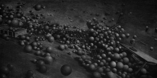 Levi van Veluw The Collapse of Cohesion spheres 2014.jpg