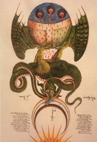 sir george ripley lindorm dragon from the alchemical scrolls-15th-century.jpg