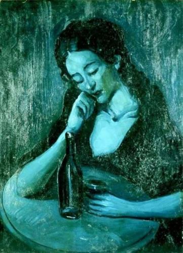 Pablo Picasso. Lady at eden concert 1903n.jpg