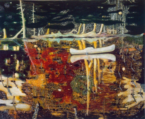 Peter Doig, Swamped, 1990.jpg