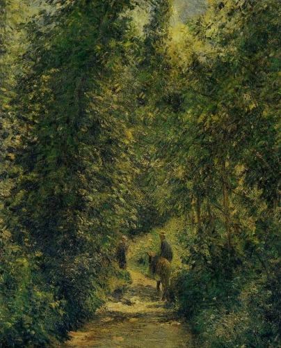 Camille Pissarro Chemin sous bois, en été .jpg