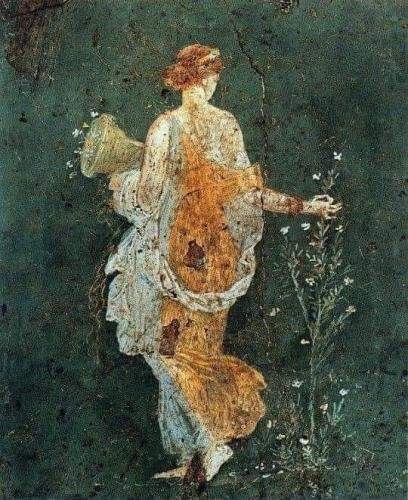 Flora Ancienne fresque romaine de Pompeii 1er s av jc.jpg