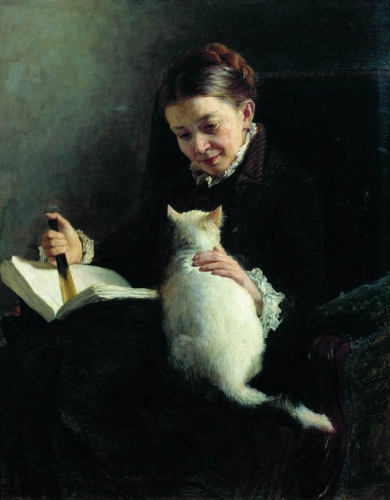 Nikolai Yaroshenko Portrait of a Lady with a Cat.jpg