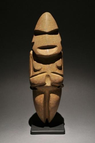 Figure Mezcala Culture - Guerrero, Mexico 350 BC - 250 AD Epidote.jpg
