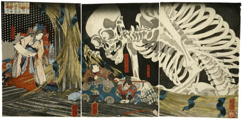 utagawa kuniyoshi Princess Takiyasha summons a skeleton spectre to frighten .jpg