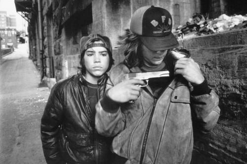 mary ellen mark  Rat' and Mike with a Gun, Seattle, Washington, USA, 1983 - .jpg