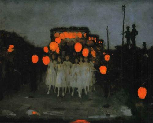 Thomas Cooper Gotch  The Lantern Parade (1918).jpg