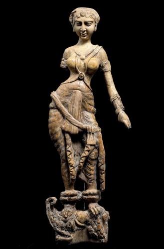 Goddess standing on a mythological creature, from Begram, Afghanistan, 1st-2nd century..jpg