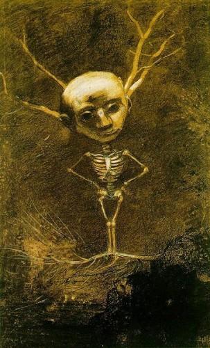Odilon Redon L'esprit des bois 1880.jpg