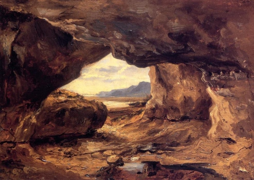Théodore Rousseau-The-Cave-in-a-Cliff-near-Granville.jpg