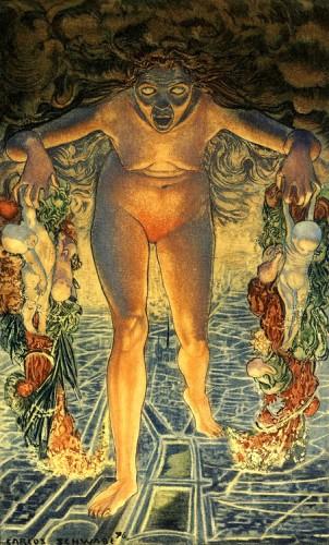Carlos Schwabe Le Crepuscule du soir Fleurs du Mal Dawn, 1900.jpg