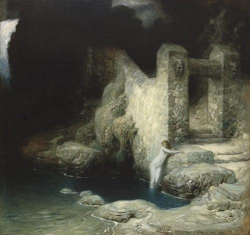 ferdinand-keller Nymphe à la source 1905.jpg