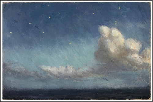 Frank Wilbert Stokes (1858-1955), Moonlight, Starlight, Atlantic Ocean - 1902 a.jpg