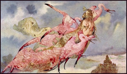 gustave adolf mossa firebirds - large size paintings.jpg
