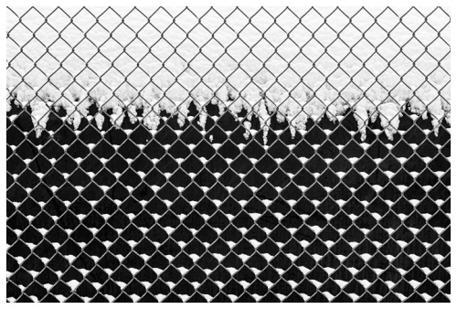 chuck kimmerle Fence with Snow, Mills, WY.jpg