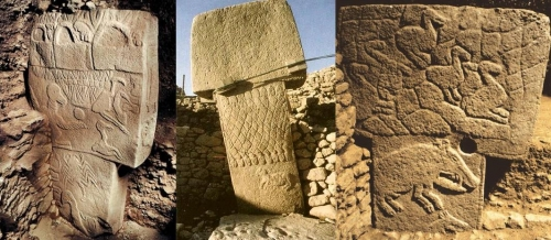Göbekli Tepe est un site préhistorique du Mésolithique, situé dans la province de Şanlıurfa, au sud-est de l'Anatolie, en Turquie,.jpg