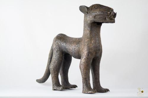 Benin Leopard Bronze - Nigeria African Art.png