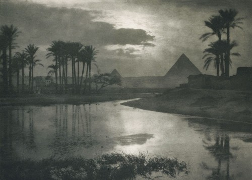 Ernest R. Ashton evening near pyramids 1897.jpg