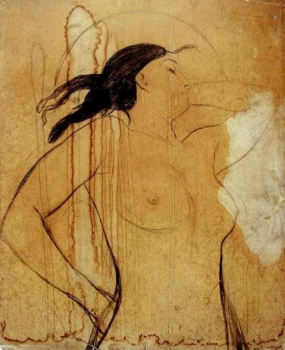 Edvard Munch étude pour Madonna 1894.png