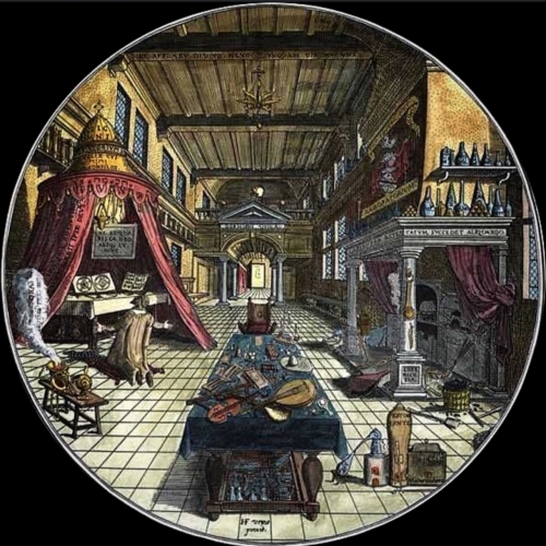 Heinrich Kuntrath Amphitheatrum Sapientiae Aeternae laboratoire de l'alchimiste.jpg