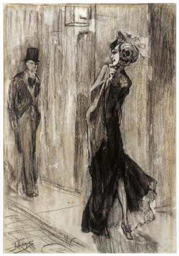 Flicien Rops(Namur 1833 - Essonnes 1898) ,Parodie humaine, 1881 .jpg