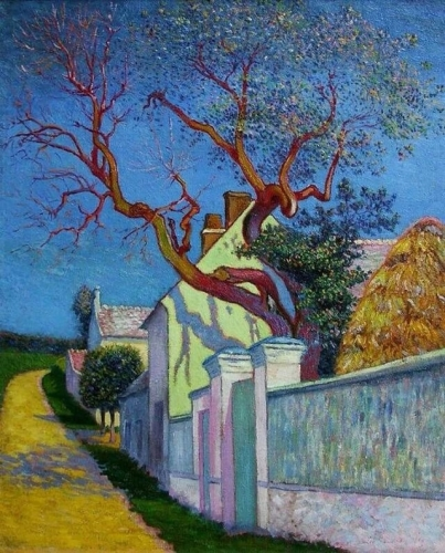 Léo Marie Gausson Maison à l'arbre rouge (1890).jpg