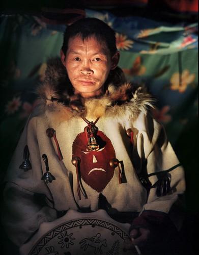 victor borzih Kolya, a Nenets shaman living near the town Naryan-Mar in the Nenets Autonomous Okrug, Russia.jpg