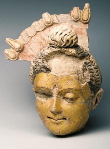 Buddha's head from Qoratepa, Uzbekistan. 3rd century A.D.0.jpg