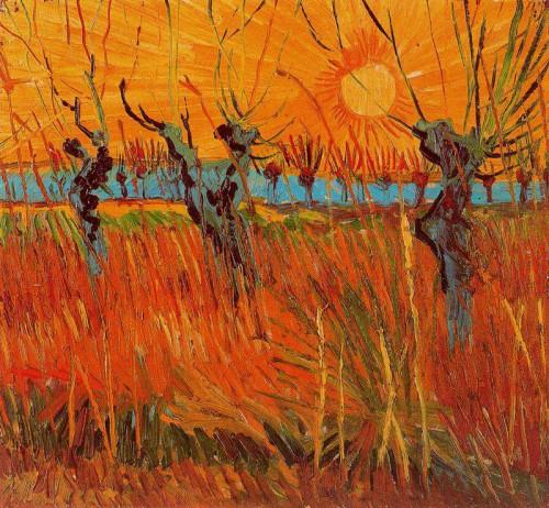 Vincent van Gogh, Sauces a la puesta de sol, 1888..jpg