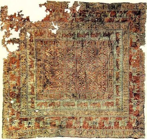The Pazyryk Carpet, the oldest known surviving carpet in the world, 5th century BC.00.jpg