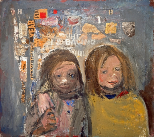 Joan Eardley Children and Chalked Wall 3 by .jpg