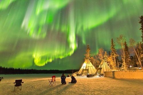 Kwon O Chul - Night in Yellowknife, Canada.jpg