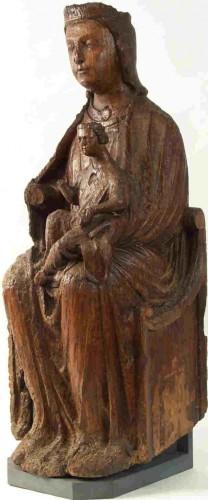 Vierge en majesté Art mosan région de Liéges, 1ère partie XIIIe.jpg