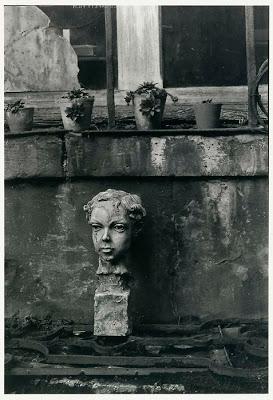 Todd Webb Left Bank, Paris Baudelaire Statue 1948.jpg