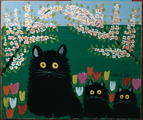 Maud Lewis Three black cats 1955.jpg