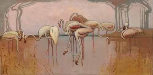 Sydney_Long_-_Flamingoes_1905 1906.jpg