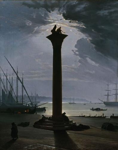 Friedrich Nerly, Venise, la place Saint Marc au clair de luneo.jpg