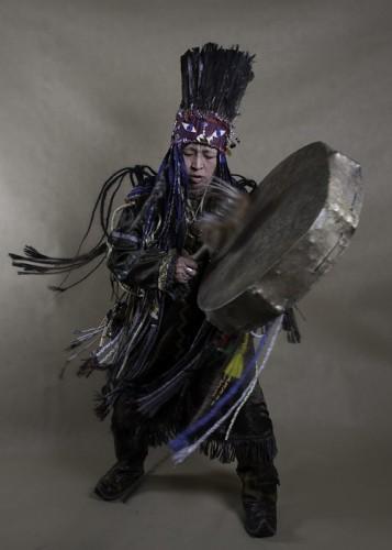 Marta Rosolska Larisa Kuzhuget, a Tuvan shamaness of the Adyg Eeren Shamanic Society photographed by 0.jpg