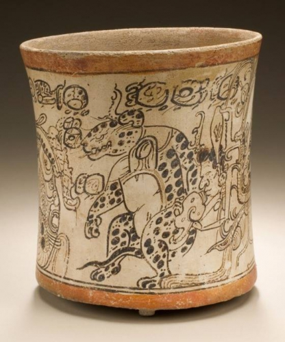Justin kerr photo Drinking vessel depicting otherworldly Toad, Jaguar, and Serpent_n.jpg