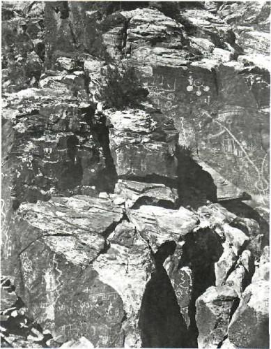 WILLIAM BELL. Utah Series No. 10, Hieroglyphic Pass, Opposite Parowan, Utah, 1872.jpg