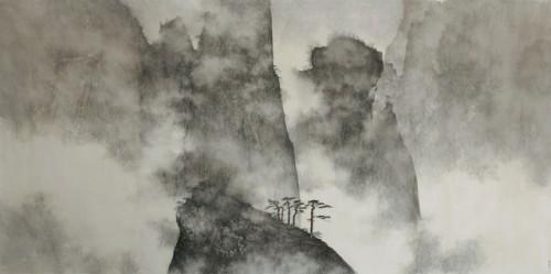 Li Huayi. Dragon Amidst Mountain Ridge. .jpg