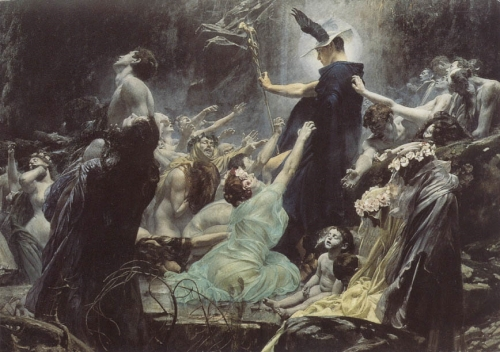 Adolf Hirémy-Hirschl, The Souls of Acheron (1898), .jpg