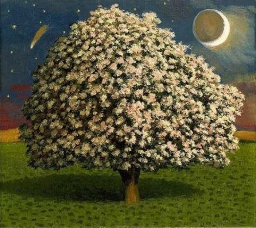 David Inshaw, Apple Tree and Moon.jpg