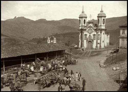 marc ferrez ouro preto igreja de são francisco 1880.png