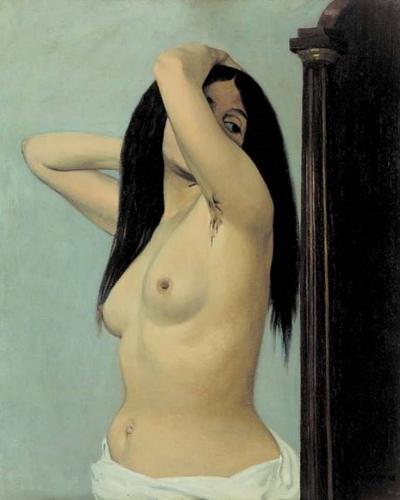 Félix Valotton. Femme nue regardant dans une psyché 1906.jpg