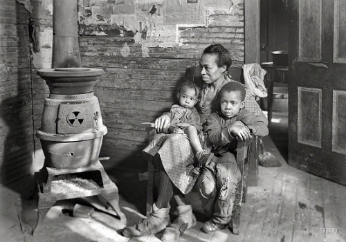 Lewis Wickes Hine March 1937. Scott's Run, West Virginia. Johnson family -- father unemployed.png